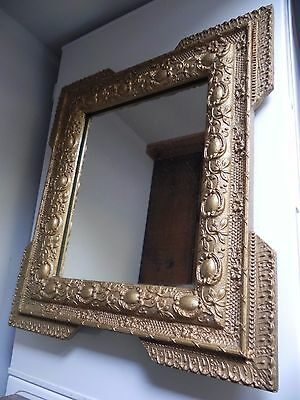 STUNNING Antique Ornate MIRROR French GILT gold Wall Vintage Rococo Louis style