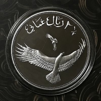 World Wildlife Fund Wwf 1987 Oman 2 1/2 Rials Silver Proof Coin Eagle