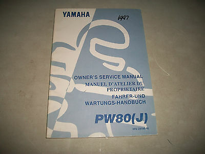Oem 1997 Yamaha Pw80(J)  Motorcycle Owners Service Manual Clean Cmystore4More