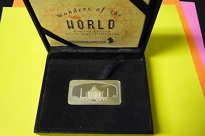 Wonders of the World Limited Edition Silver Ingot Collection--Taj Mahal