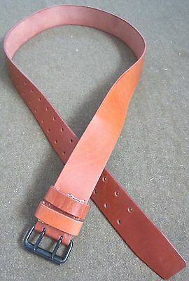 Wwi French M1903 M1914 Combat Field Belt-Brown Leather, Xlarge