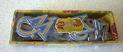 Chipboard Alphabet Blue with Gold Inner - Portafolia Gifted Memories 3½ cm x 3cm