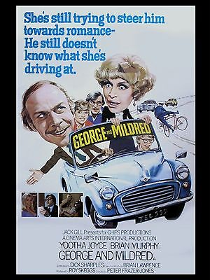 """George and Mildred 16"""" x 12"""" Reproduction Movie Poster Photograph"""