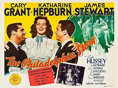 """The Philadelphia Story 16"""" x 12"""" Reproduction Movie Poster Photograph"""