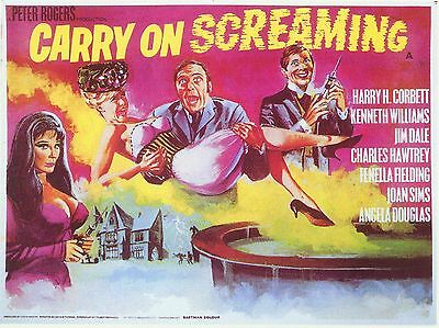 """Carry on Screaming 1966 16"""" x 12"""" Reproduction Movie Poster Photograph"""