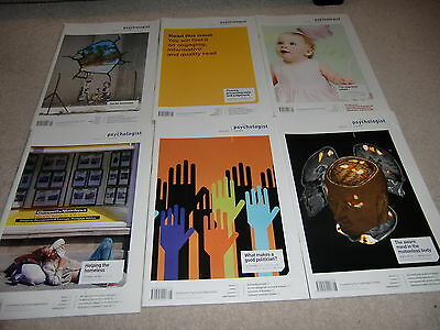 The Psychologist (British Psychological Society Magazine)- 6 issues Vol 23, 1-6