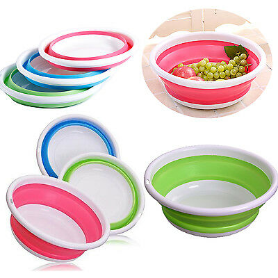 HOT Outdoor Portable Foldable Silicone Washbasin Bowl For Camping Fishing Hiking