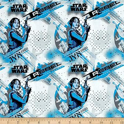 Camelot Star Wars Rogue One 7370106 2 Carbon K2s0 Cotton Fabric BTY