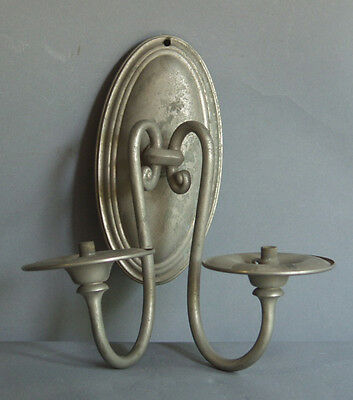 A Sterling Bronze Co nickel sconce