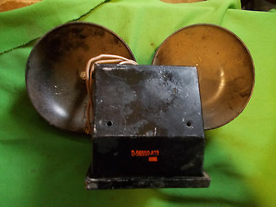 Vintage Antique Old Double Bell Telephone  Phone School Bell