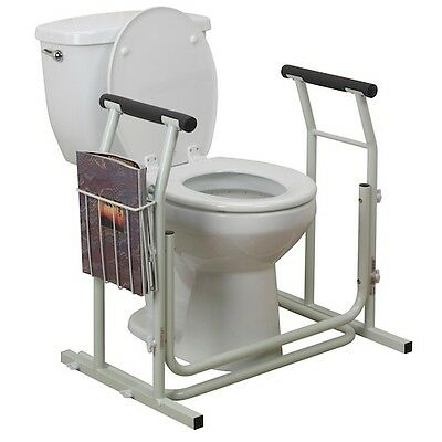 Toilet Safety Rails Senior Stand Alone Support Handicapped Disabled Mobility