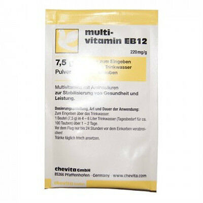Pigeon Product - Multivitamin EB12 - 6 sachets by Chevita - for Racing Pigeons