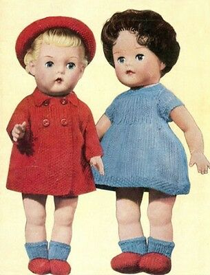 Knitting Pattern To Make Vintage Dolls Clothes  10-12-14""