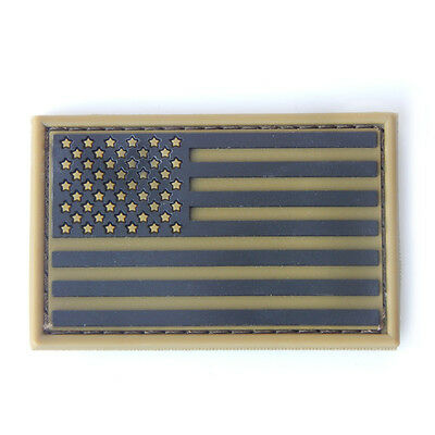 Condor USA Flag PVC Morale Patch hook & loop - Coyote Tan NEW