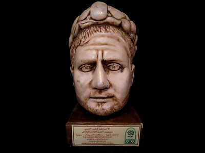 AMAZING RESIN HEAD SCULPTURE OF ROMAN EMPEROR PHILIP I The ARAB FROM SYRIA !!!