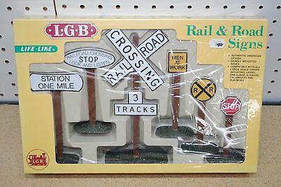 LGB/Life-Like #1973 Rail & Road Signs *G-Scale* NEW