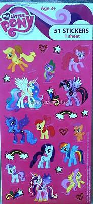 51 x My Little Pony Stickers for Invitations Envelopes Cards. Rarity Celestia