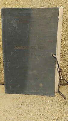 Adirondack 1900 Map N.y. Forest, Fish And Game Commission