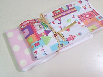 NWT Princess Castle Infant Baby Girl Burp Cloth Set Pink