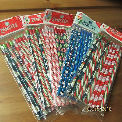 50 pcs Lovely Holiday Christmas Pencil Wholesale School Supply Lot