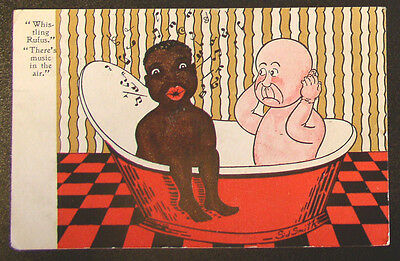 """Racist  Post Card - C. 1907  """"Whistling Rufus"""""""