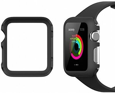 Apple Watch Case Black 42mm Protective Cover Full Protection Watches 2015 Armor