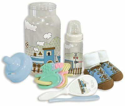 Stephan Baby Bottle Bank Gift Set, Train Time 941811