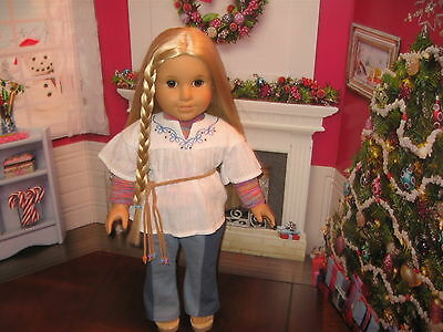 """American Girl Doll """"julie"""" Displayed Only"""