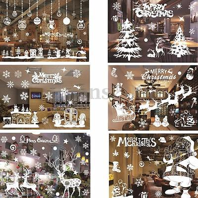 P re no l no l d 39 arbre fen tre autocollant sticker for Sticker fenetre noel