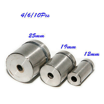 Stainless Steel Stand Off Fixings Mounts Nails Fitting Bolts 12/19/ 25mm *25mm