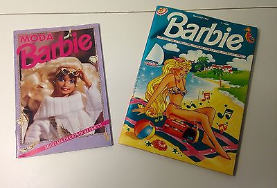 RARE KEWL 1993 Barbie Activity Book And 1992 Barbie Catalog In ITALIAN
