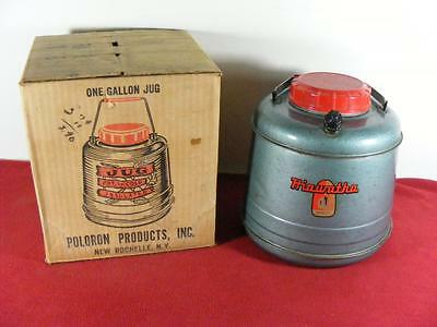 VTG Poloron Metal Thermex Hot or Cold Jug Hiawatha With Box 1 Gallon
