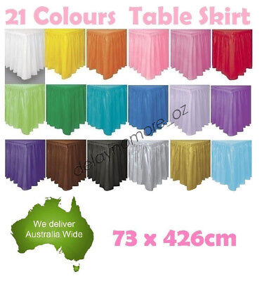 Colour Plastic Table Skirt Tableskirt Birthday Wedding Xmas Party Decoration 4.2