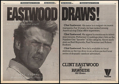 RAWHIDE__Original 1982 Trade Print AD / poster_Syndication promo__CLINT EASTWOOD