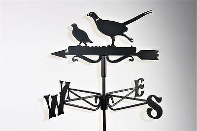 Pheasant and Partridge Metal Weathervane