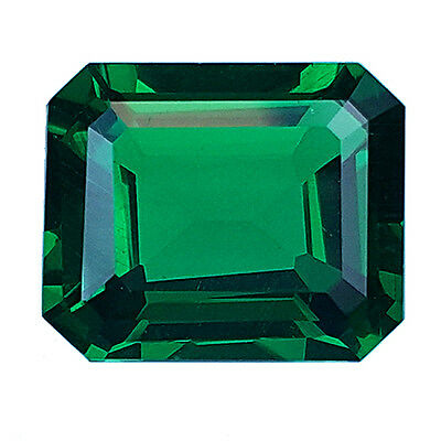 6.20 ct Excellent Octagon Shape Lab-created Biron Simulant Emerald Nano Green