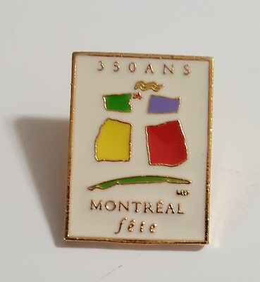 350 Ans Montreal Fête Lapel Hat Collectible Pin