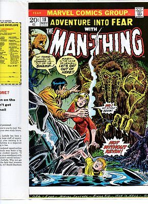 Adventure into Fear # 18 Man-Thing COMIC COVER PROOF Beautiful Bronze age Horror