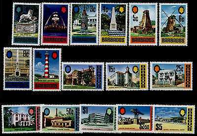 Barbados 328-43 MNH Architecture, Lighthouse, Church, Airport