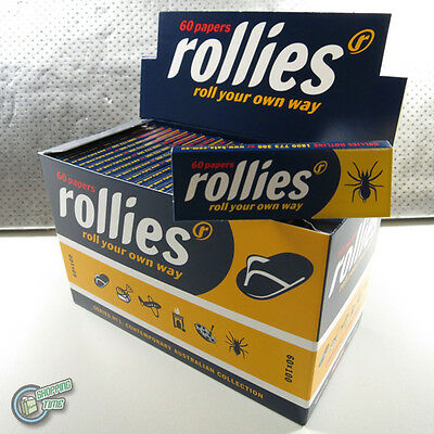 100 x 60 ROLLIES Tobacco Cigarette Rolling Roller Filter Paper Papers overseas