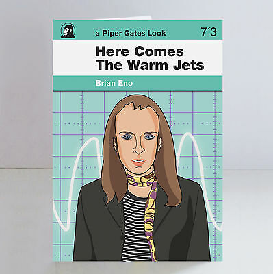 Brian Eno Here Comes the Warm Jets Ltd Edition A5 Birthday Card Roxy Music Glam
