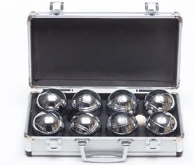Garden Games Boules In A Metal Carry Case - 4 Player Premium Set With Steel /