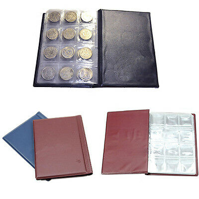 120 Coin Holder Collection Storage Collecting Penny Pockets Album Book Elegant