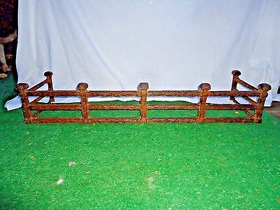 Antique Fireplace Fender,very Unique Cast Iron Fender,medieval Looking Design