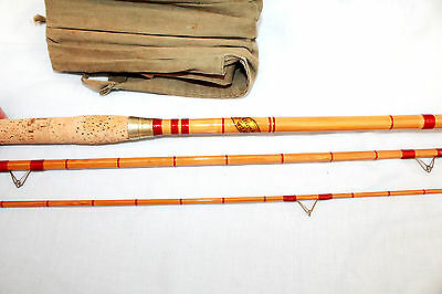 "11'-0"" S. Allcock's the ""Wizard"" 3 piece coarse fishing rod superb condition"