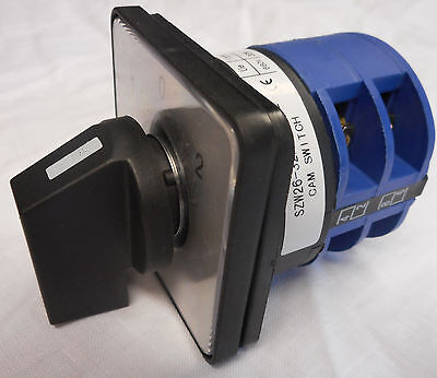 ROTARY SWITCH 20 A 2 POLE PANEL Selector CHANGEOVER 3 POSITION CONTROL CO202