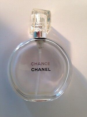 Authentic Chanel CHANCE Glass Perfume Bottle Empty 35 ml size France