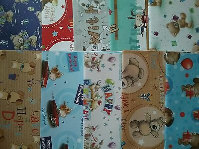 10 Sheets of Good Quality Cute Male Wrapping Paper Brand New