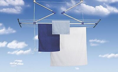 Stewi Lift Ceiling Clothes Line Airer Laundry Washing Line