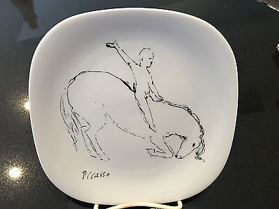 Picasso Equestrian drawing on Block Langenthal Picasso porcelain plate